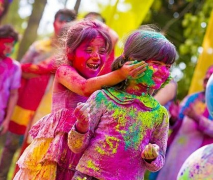 Image result for holi with colours, water balloons and water guns